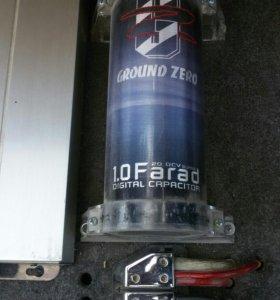 Самбуфер, 2 усилителя, конденсатор