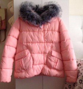 Зимняя куртка нежно-розовая