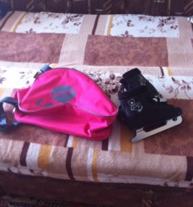 Детские коньки с сумкой,34разм