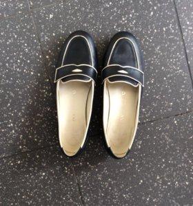Кожаные туфли Терволина,39 р-р.