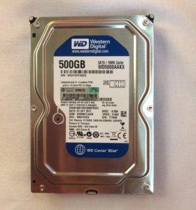 Новый жёсткий диск WD для компьютера 500 GB