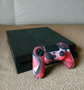 Sony PlayStation 4 Black 0.5 терабайт, +7 games