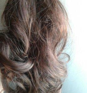Волосы хвосты -крабики длина 25см