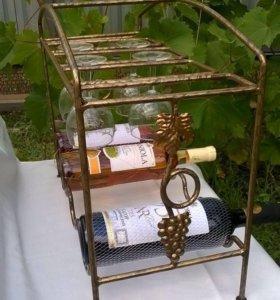 Кованая подставка для бокалов и бутылок