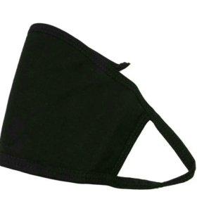 Чёрная марлевая повязка