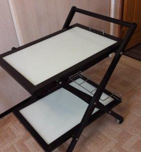 Сервировочный столик венге, Италия, фабрика Compar