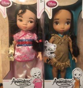 Куклы Disney Animators Мулан и Покахонтас в детств