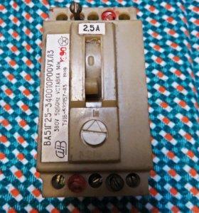Автомат 3х фазный 2.5А