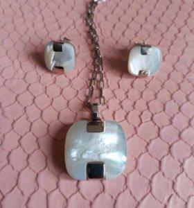 Комплект серебряных украшений Misaki