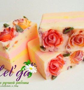 """Нарезное мыло """"Розы в йогурте"""""""