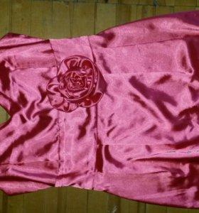 Платье атласное р44-46