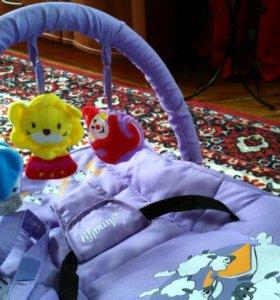 Шезлонг детский Amalfy-Vibro