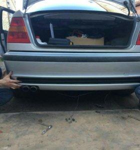 Задний бампер BMW М-тех 3er e46 седан