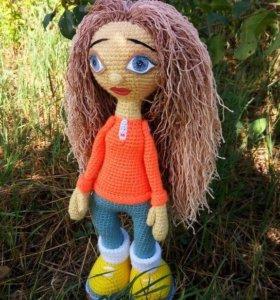 текстильные куклы и вязанные игрушки