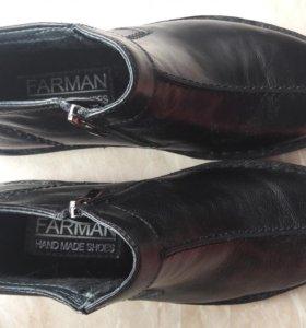 Ботинки новые кожа утепленные 39 размер