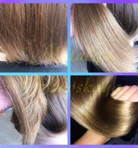 Полировка волос + уход маслом