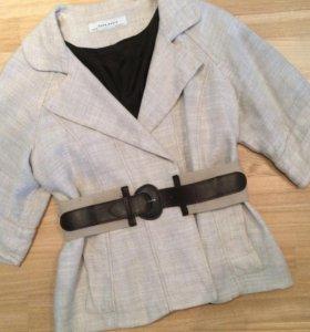 Zara пиджак из льна 46- 48 р.