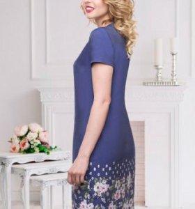 Платье Акварель (нью, джинс)