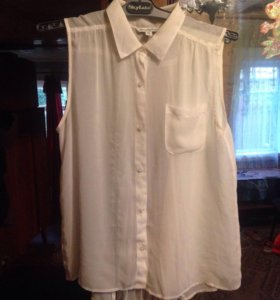 Блузка белая прозрачная