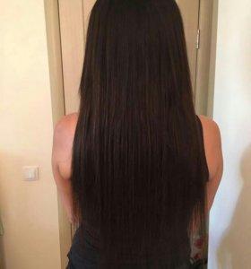 Наращивание волос на капсулах