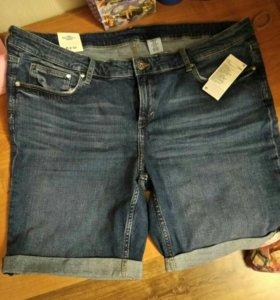 Новые джинсовые шорты 54 размера