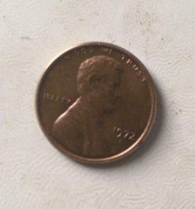 Монета 1cent 1972г