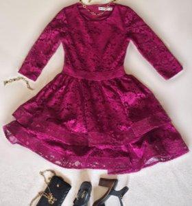 Кружевное платье с подкладом behcetti italia