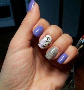 Шеллак,наращивание ногтей и ресниц