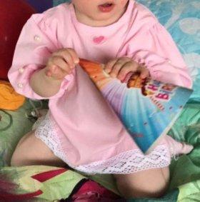 Розовое платье на 1 годик