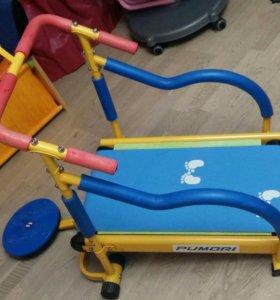 Детский тренажер беговая дорожка Baby Gym LEM-KТМ