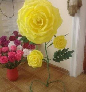 Искусственные цветы , шоколадные торты ,цветы с