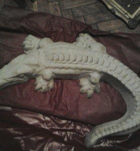 Крокодил из бетона