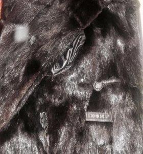 Куртка зимняя мужская из натуральной кожи