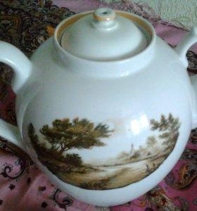 фарфоровый чайник пр-во Дулево емкость 4.5 литра