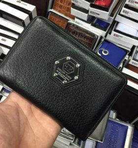 Мужской кожаный кошелек Philipp Plein