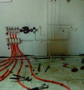 Отопление и водопровод.