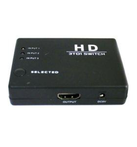 Переключатель HDMI 3 входа 1 выход с пультом М2