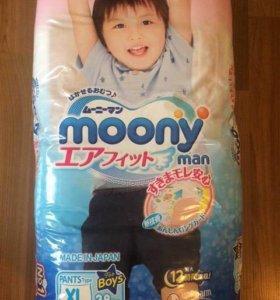 Moony подгузники - трусики XL 38 шт. Для мальчиков