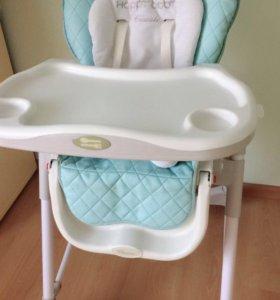 Детский стульчик для кормления happy baby
