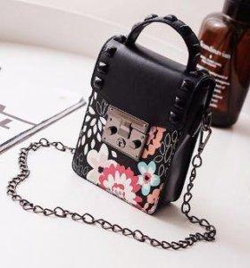 """Сумка сумочка мини, размер 17""""11""""5, цвет: черный"""