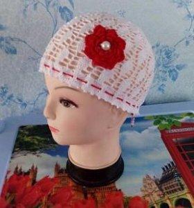 Ажурная летняя шапочка