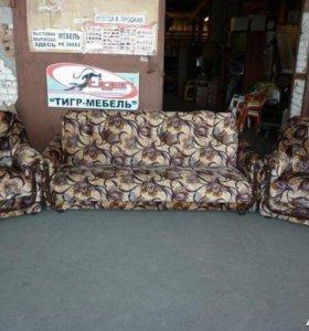 290 Новый набор мягкой мебели велюр от Фабрики