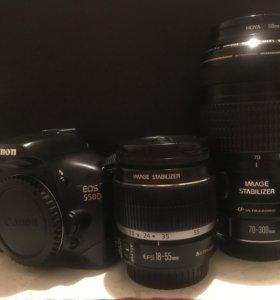 Продам Canon EOS 550D + объектив EF 70-300mm f/4-5