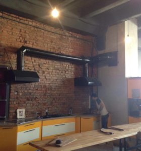 Монтаж вентиляций и приточной системы