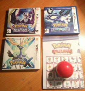 Приставка Nintendo 3DS Cosmos Black + Pokemon
