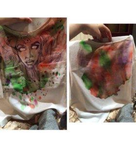 Рисование краской на футболках