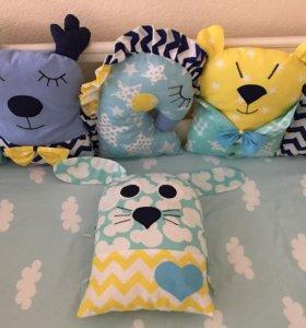 Бортики подушки игрушки в детскую кроватку