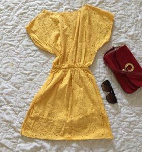 Желтое платье 42-44 р.