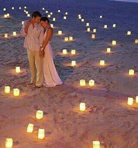 Светящиеся фонарики на свадьбу
