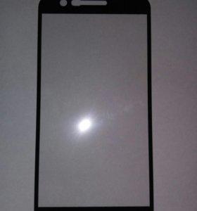 Закаленное стекло с полн. покр. для LG K10 2017г